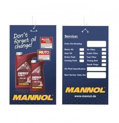 MANNOL Oil Change Label
